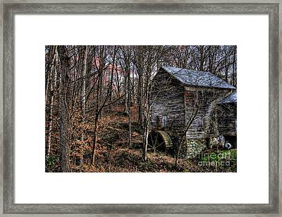 Winter Sunset At Cook's Mill Framed Print by Benanne Stiens