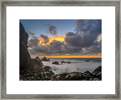 Winter Sunset At Patrick's Point Framed Print by Greg Nyquist