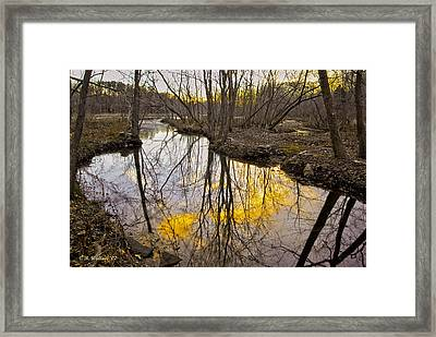 Framed Print featuring the photograph Winter Sunset At Williston Mill by Brian Wallace