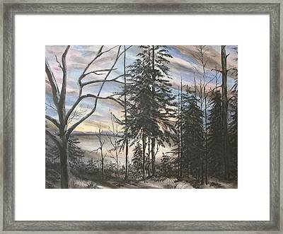 Winter Sunset Framed Print by Bev  Neely