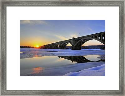 Winter Sunset Framed Print by Dan Myers