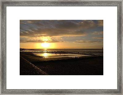 Winter Sunset Framed Print by Dave Woodbridge
