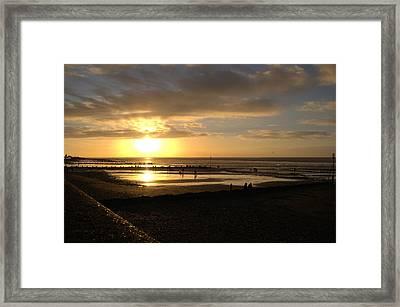 Winter Sunset Framed Print by Dave Woodbridge