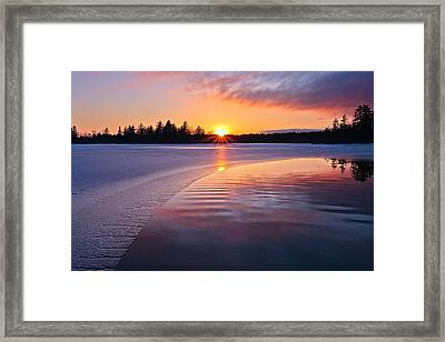 Winter Sunset  Dover Nh Framed Print by Jeff Sinon