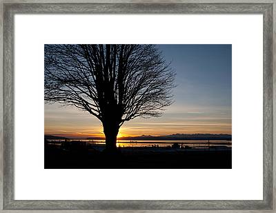 Framed Print featuring the photograph Winter Sunset by Erin Kohlenberg