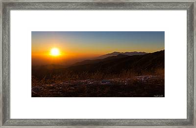 Winter Sunset Framed Print by Heidi Smith