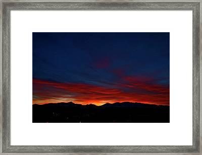 Winter Sunset Framed Print by Jeremy Rhoades