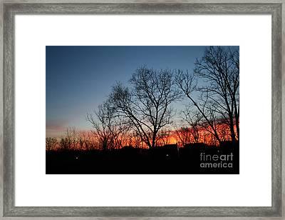 Winter Sunset Framed Print by Karen Adams