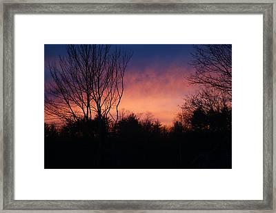 Winter Sunset Framed Print by Lois Lepisto