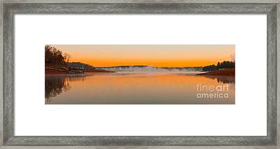 Winter Sunset Framed Print by Michael Waters