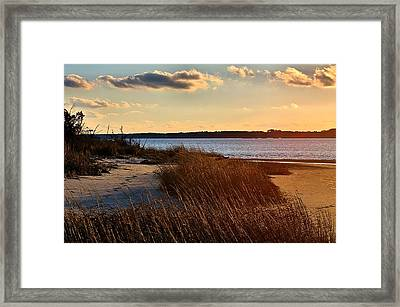 Winter Sunset On The Cape Fear River Framed Print