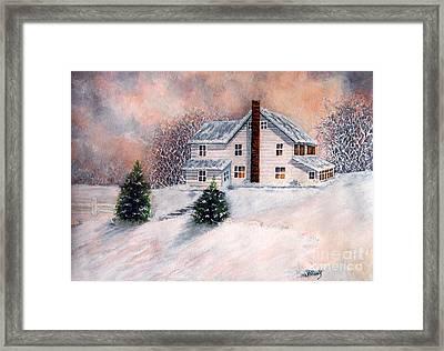 Winter Sunset On Winterton  Framed Print
