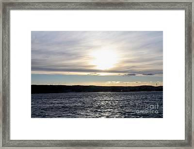 Winter Sunset Over Gardiner's Bay Framed Print