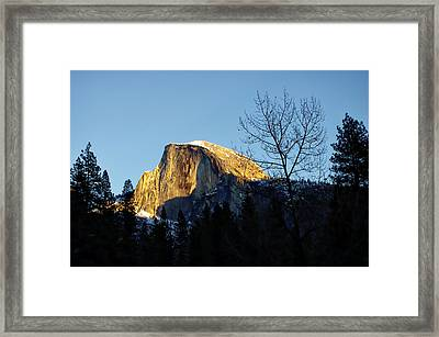 Winter Sunset Over Half Dome Framed Print by Scott McGuire