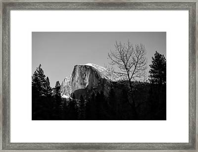 Winter Sunset Over Half Dome Yosemite National Park Framed Print by Scott McGuire