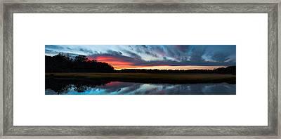 Winter Sunset Over Moultrie Creek Framed Print
