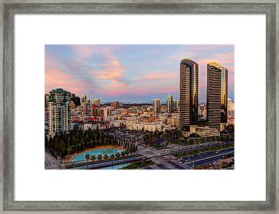 Framed Print featuring the photograph Winter Sunset San Diego by Heidi Smith