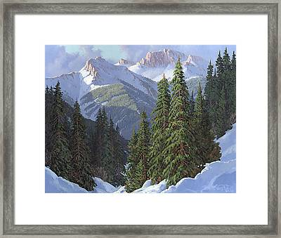 Winter Sunshine Framed Print
