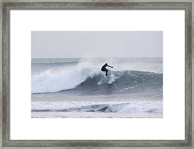 Winter Surfing Framed Print by Tim Grams