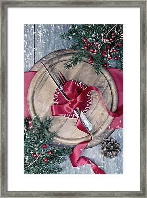 Winter Table Setting Framed Print