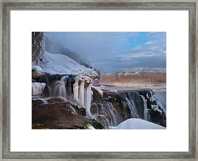 Winter Texture And Light Framed Print by Leland D Howard