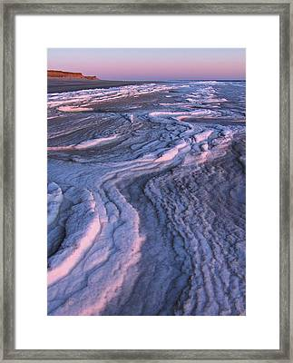 Winter Tide On Plum Island Framed Print by Juergen Roth