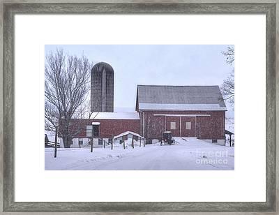 Winter Time Garrett County Maryland Framed Print by Dan Friend