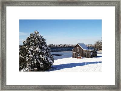 Framed Print featuring the photograph Winter Time by Gina Cormier
