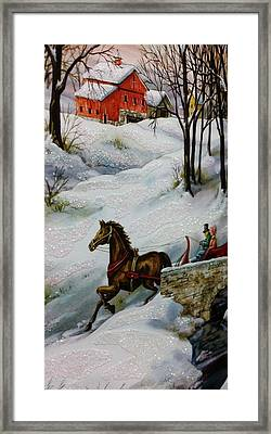 Winter Time With T And R Framed Print by Rob Hans