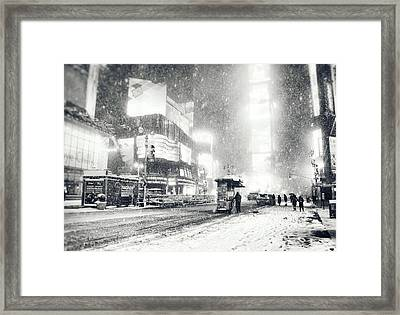 Winter - Times Square - New York City Framed Print by Vivienne Gucwa