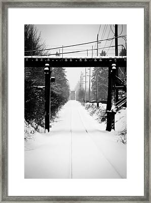 Framed Print featuring the photograph Winter Tracks by Aaron Berg