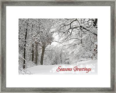 Winter Trail Seasonal Card Framed Print