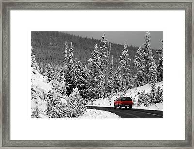 Framed Print featuring the photograph Winter Traveler by Geraldine Alexander