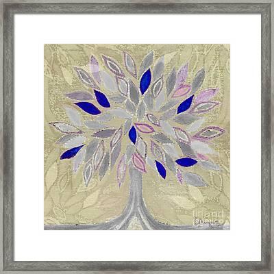 Winter Tree Framed Print by Barbara Moignard