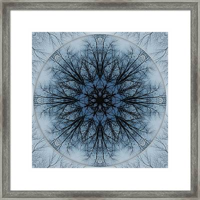 Winter Tree Mandala 2 Framed Print