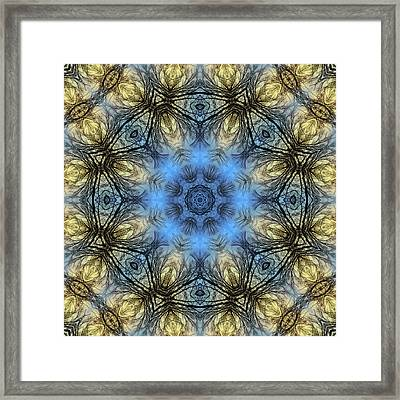 Winter Tree Mandala Framed Print