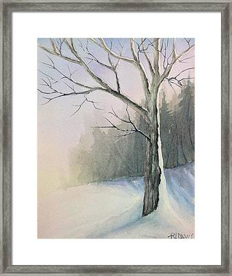 Framed Print featuring the painting Winter Tree by Rebecca Davis