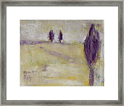 Winter Trees Framed Print by Becky Kim