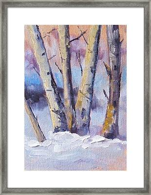 Winter Trees Framed Print by Nancy Merkle