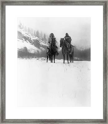 Winter Trek   1908 Framed Print by Daniel Hagerman