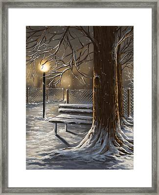 Winter Trilogy 1 Framed Print by Veronica Minozzi