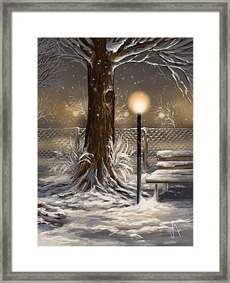 Winter Trilogy 2 Framed Print by Veronica Minozzi