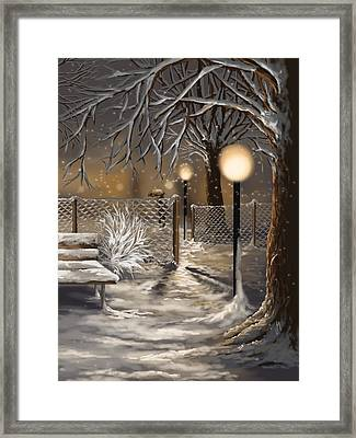 Winter Trilogy 3 Framed Print by Veronica Minozzi