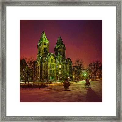 Winter Twilight At Buffalo Psych Center N1 Framed Print