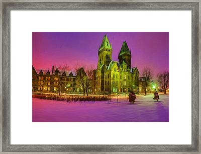 Winter Twilight At Buffalo Psych Center N2 Framed Print