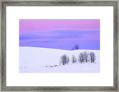 Winter Twilight Landscape Framed Print