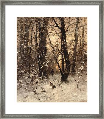 Winter Twilight Framed Print by Ludwig Munthe