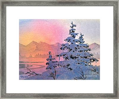 Winter Twilight Framed Print by Teresa Ascone