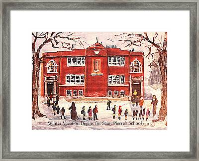 Winter Vacation Begins For Saint Pierre's School Framed Print by Rita Brown