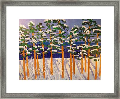 Winter Valley Framed Print by Rodger Ellingson